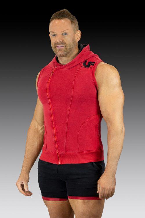 sleeveless hoodie UF